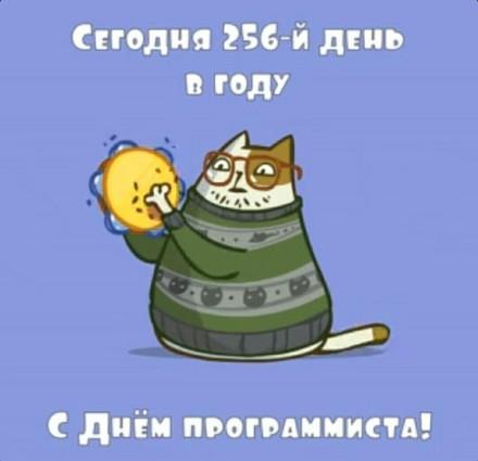 Дорогой друг! С днем программиста! Поздравляю с профессиональным праздником! С праздником! 256 день в году!  скачать открытку бесплатно | 123ot