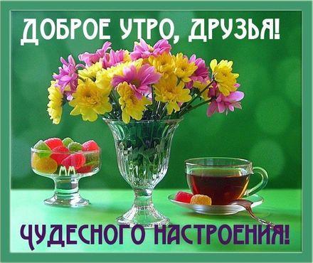 Красивая картинка с добрым утром для друзей! скачать открытку бесплатно | 123ot