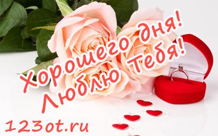 Прекрасная открытка с пожеланием хорошего дня любимой женщине! скачать открытку бесплатно | 123ot