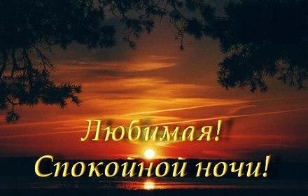 Чудесная картинка спокойной ночи для любимой! скачать открытку бесплатно | 123ot