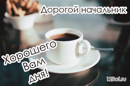Классная открытка хорошего дня для босса (начальника, шефа)! скачать открытку бесплатно | 123ot