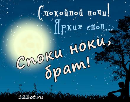 Доброй ночи братик картинки прикольные, картинках