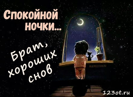 Поздравление, доброй ночи братик картинки прикольные