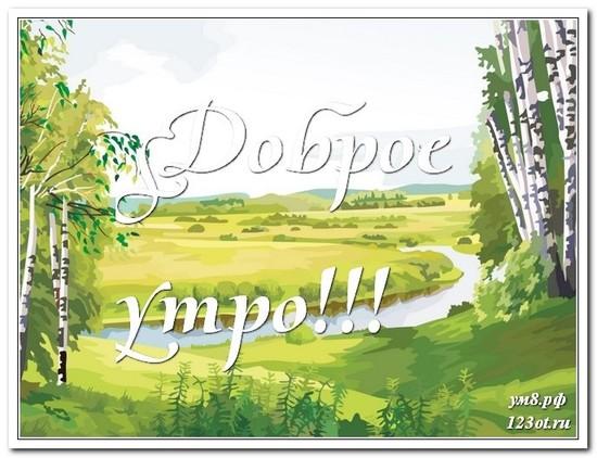 Открытка с природой, с добрым утром поделиться в вацап бесплатно! скачать открытку бесплатно | 123ot