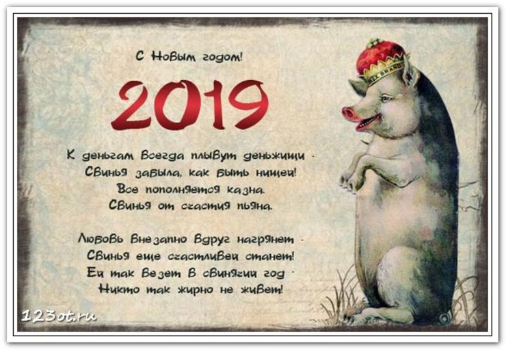 очень веселые поздравления в стихах с годом свиньи нельзя