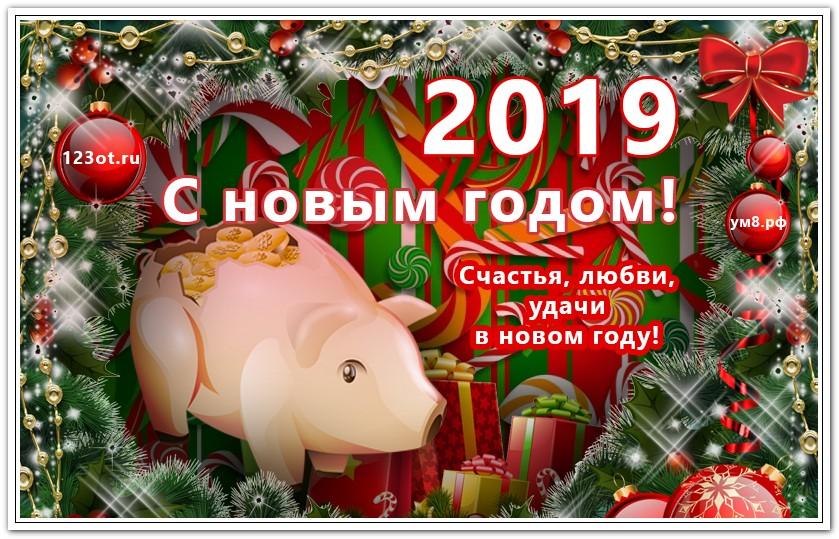 Душевные открытки с новым годом 2019 свиньи