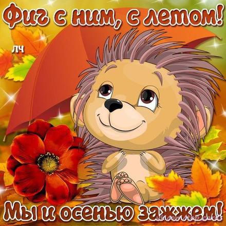 Открытка, картинка, Первый день осени, 1 сентября, начало осени, осень, фразы, пожелание, осень пришла, конец лета, чудесная пора, золотая осень, классная осень, яркая осень, счастливая осень, ежик. Открытки  Открытка, картинка, Первый день осени, 1 сентября, начало осени, осень, фразы, пожелание, осень пришла, конец лета, чудесная пора, золотая осень, классная осень, яркая осень, счастливая осень, ежик, прикол скачать бесплатно онлайн скачать открытку бесплатно | 123ot