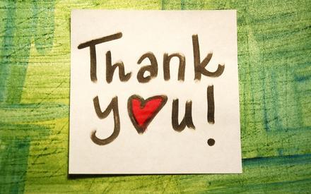 Открытка, картинка. Thank You! Записка - заметка. Открытка спасибо! скачать открытку бесплатно | 123ot