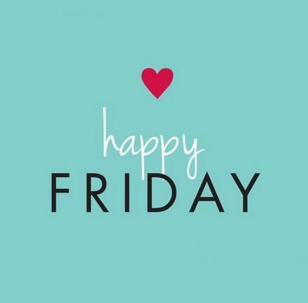 Открытка, картинка. Ура, пятница! Happy Friday. Надпись на бирюзовом фоне. скачать открытку бесплатно | 123ot