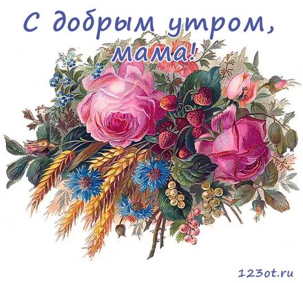 Открытка с добрым утром, мама! Ассорти из цветов для мамы. Красивый букет. Открытка для мамы! Доброе утро! скачать открытку бесплатно | 123ot