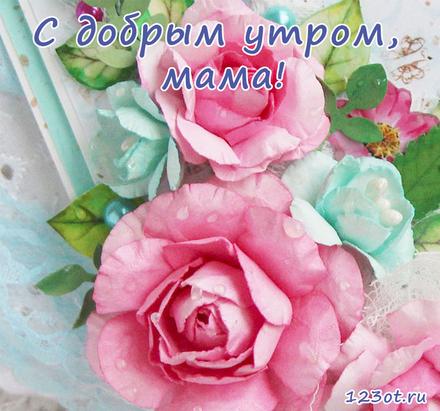 Открытка с добрым утром, мама! Открытка с красивыми бутонами цветов. Красивые цветы. Открытка для мамы! Доброе утро! скачать открытку бесплатно   123ot