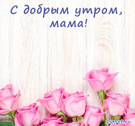 Открытка с добрым утром, мама! Розовые розы. Открытка для мамы! Доброе утро! скачать открытку бесплатно | 123ot