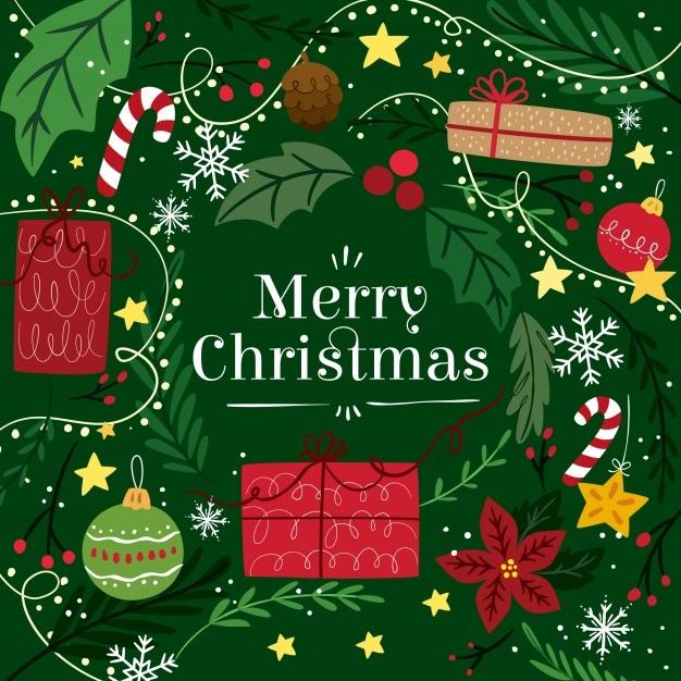 Открытка на 25 декабря! Merry Christmas! С Рождеством! скачать открытку бесплатно | 123ot