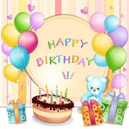 Открытка с днем рождения детская Торт. Открытки  Открытка с днем рождения детская Торт и свечки скачать бесплатно онлайн скачать открытку бесплатно | 123ot