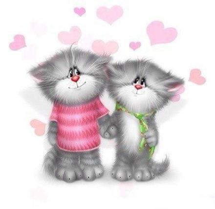 Открытка, картинка, любовь, открытка про любовь, пожелание любви и счастья, фразы о любви, Love, парочка. Открытки  Открытка, картинка, любовь, открытка про любовь, пожелание любви и счастья, фразы о любви, Love, парочка, коты скачать бесплатно онлайн скачать открытку бесплатно   123ot