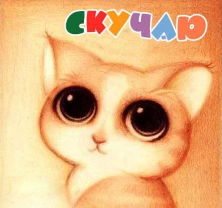 Открытка скучаю, глаза как у кота из шрека, кот, котенок, я скучаю по тебе, картинка скучаю, жду тебя, мне грустно без тебя, очень скучаю без тебя. скачать открытку бесплатно | 123ot