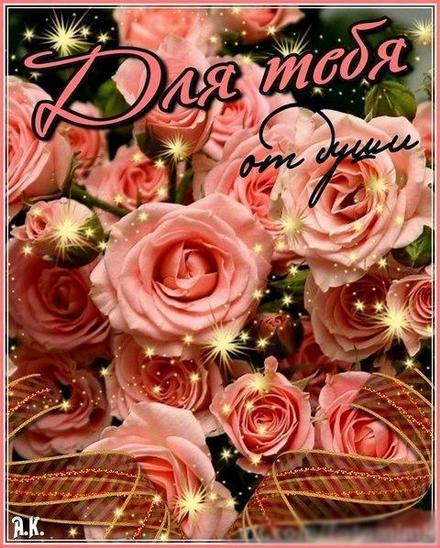 Открытка для Тебя, розы, много роз, картинка Тебе, просто так, от всей души, для Тебя! скачать открытку бесплатно | 123ot