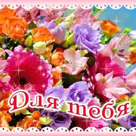 Яркая открытка для Тебя, картинка Тебе, цветы, просто так, от всей души, для Тебя! скачать открытку бесплатно | 123ot