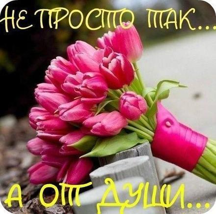 Открытка для Тебя от души, букет тюльпанов, картинка Тебе, просто так, от всей души, для Тебя! скачать открытку бесплатно   123ot