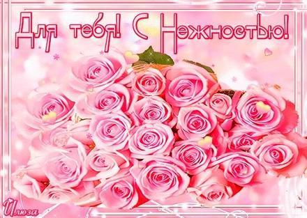 Открытка для Тебя, с нежностью, букет шикарных роз, картинка Тебе, просто так, от всей души, для Тебя! скачать открытку бесплатно | 123ot