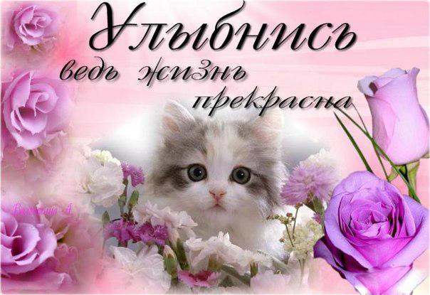 Открытки для, красивые картинки с надписью улыбнись тебя любят
