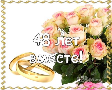 С годовщиной свадьбы 48 лет! Знойная, эмоциональная, элегантная открытка, картинка! скачать открытку бесплатно | 123ot