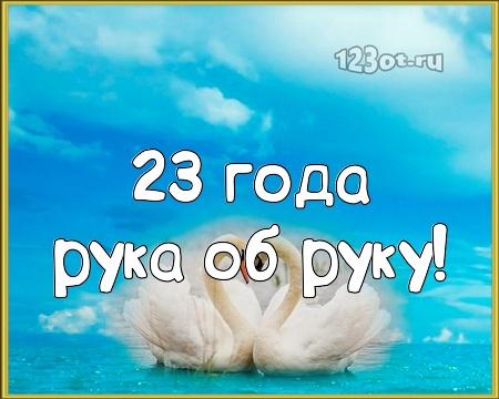 С годовщиной свадьбы 23 года! Воздушная, безупречная, милая открытка, картинка! скачать открытку бесплатно | 123ot