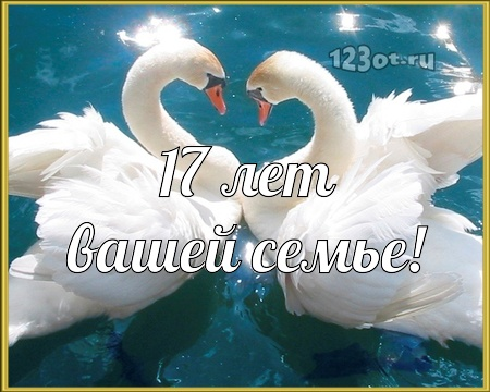 С годовщиной свадьбы 17 лет! Чудная, царственная, впечатляющая открытка, картинка! скачать открытку бесплатно | 123ot